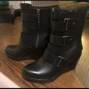New Sorel Waterproof leather Wedge Boot size 8